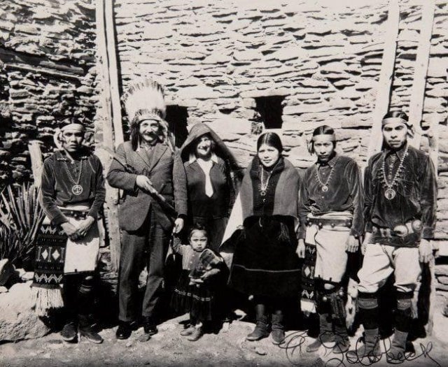 Альберт Эйнштейн в Гранд Каньоне. США, 1922 год