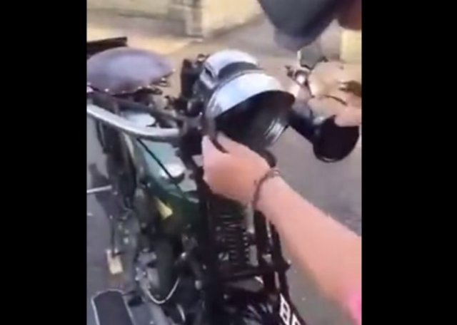 Очень необычный мотоцикл