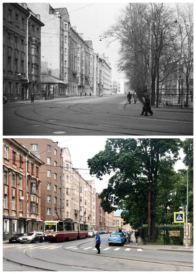 Петропавловская улица.1974 и 2020 год.