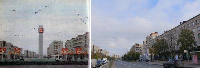 Народная улица1978 и 2020 год.
