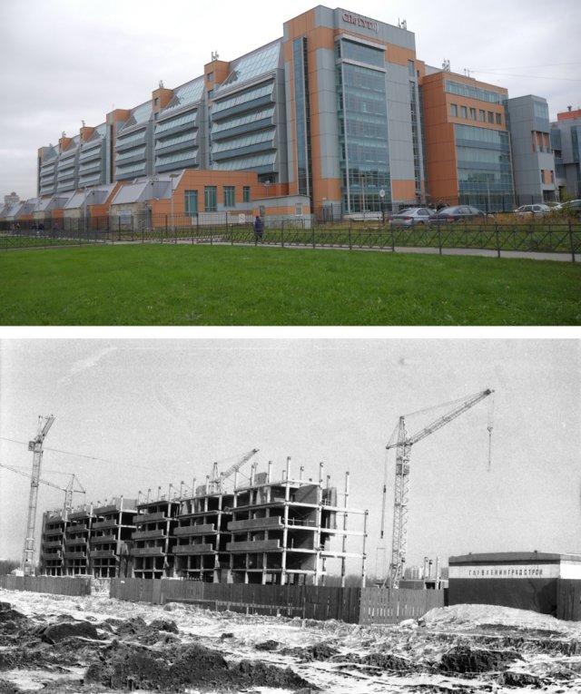 Строительство нового корпуса ЛЭИС им. Бонч-Бруевича1983 и 2020 год.