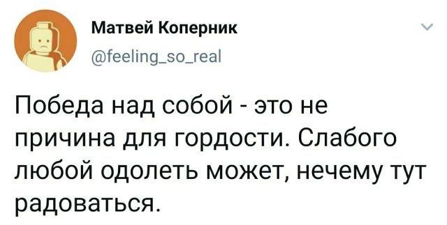 твит про гордость