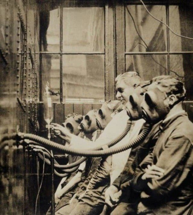 Экспериментальная станция тестирования противогазов. Англия, Лондон, 1932 год.