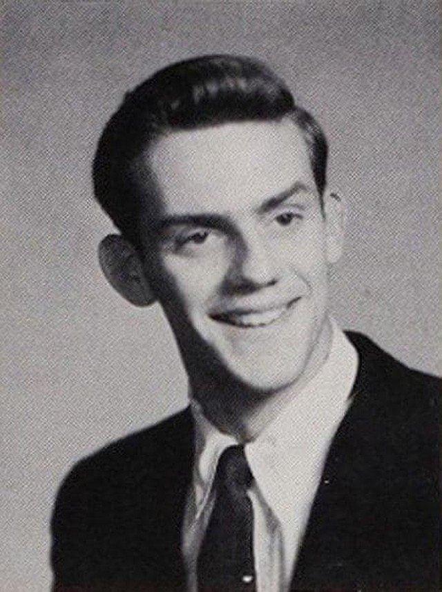 Стaршеклассник Кристофер Ллойд. Он же Док из «Назад в будущее». Коннектикут, США. 1958 г.