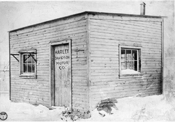 Первый «завод» Harley-Davidson, 1903 год