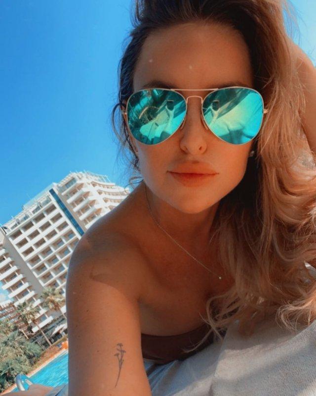 Мария Орзул - ведущая МАТЧ ТВ в очках