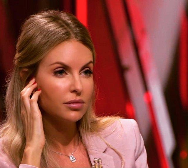 Мария Орзул - ведущая МАТЧ ТВ в розовом пиджаке