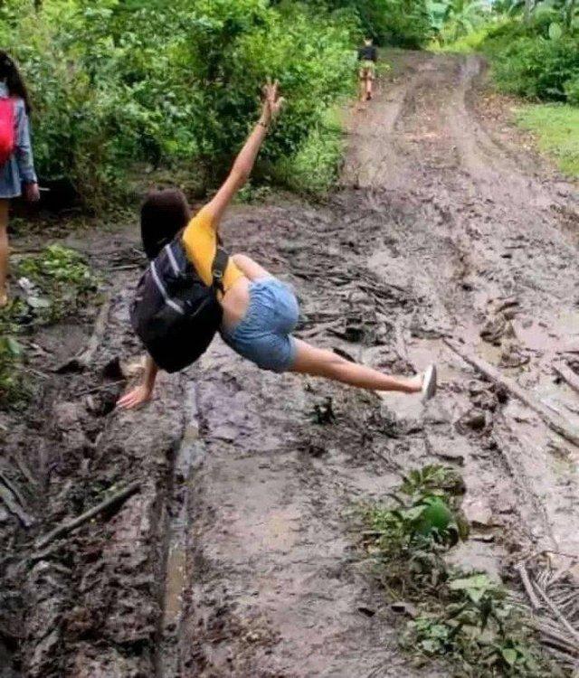Падение прямиком в грязь