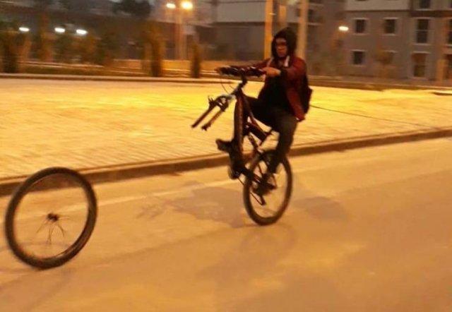 Фейл на велосипеде