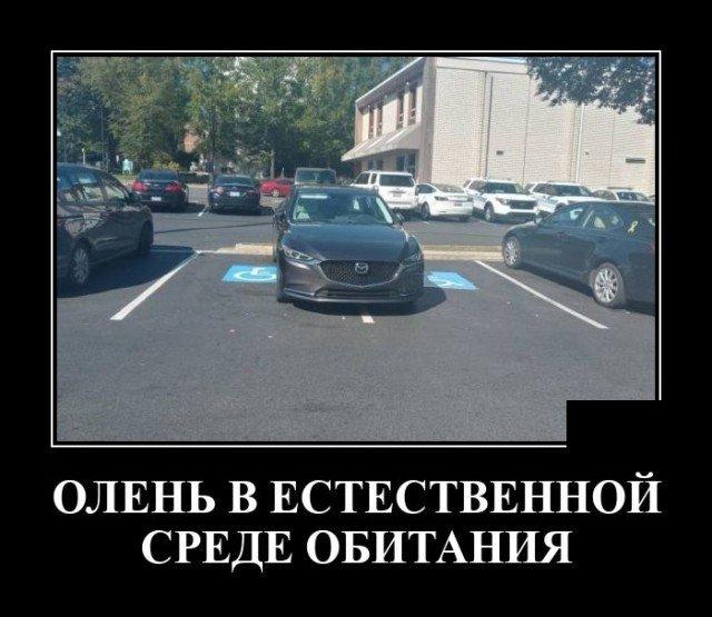 Демотиватор про парковку