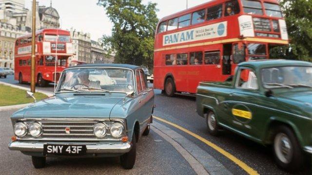 Автомобиль «Москвич–408», 1967 год, Лондон