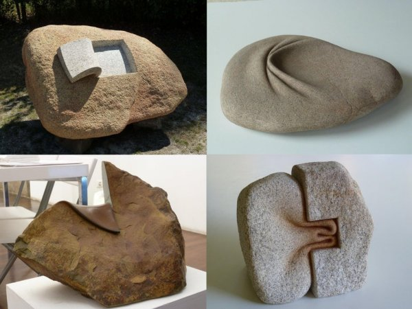 Каменные скульптуры, созданные Хосе Мануэлем Лопесом Кастро