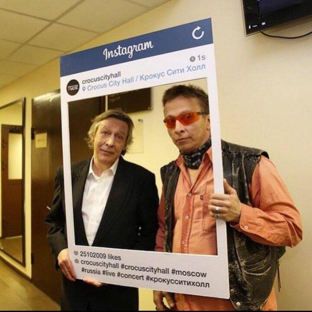 Михаил Ефремов с Иваном Охлобыстиным