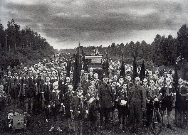 Подготовка юных пионеров, СССР, 1937 год.