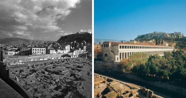 Стоя Аттала, Афины