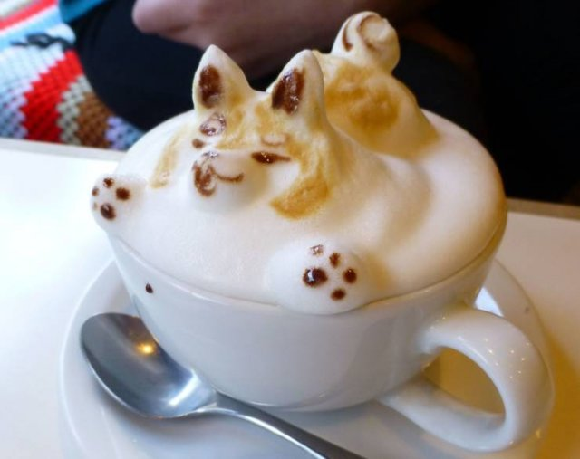 Собачка на кофе
