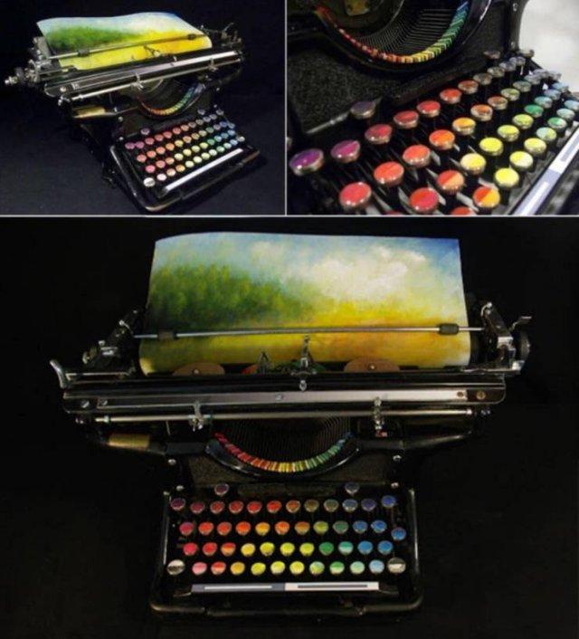 Печатная машинка для рисования