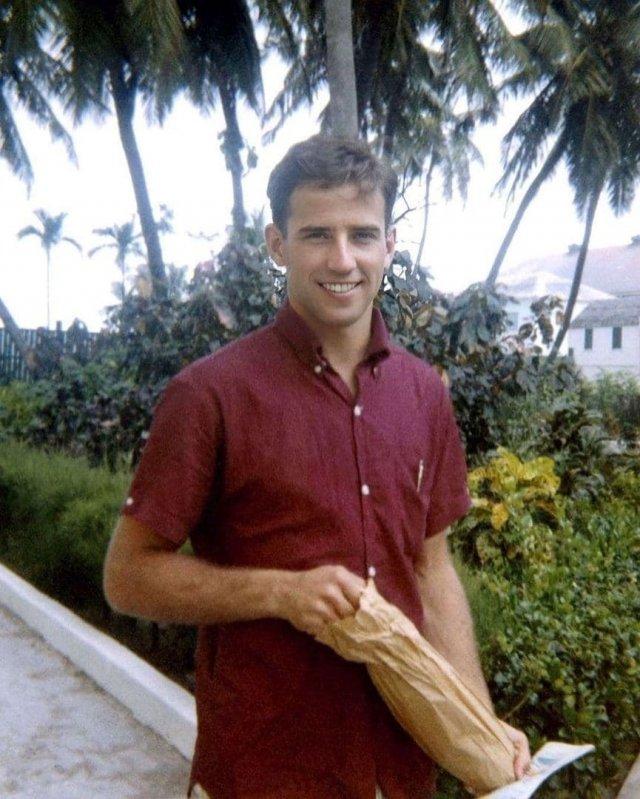 Новый президент США Джо Байден в молодости, 1960-е годы.