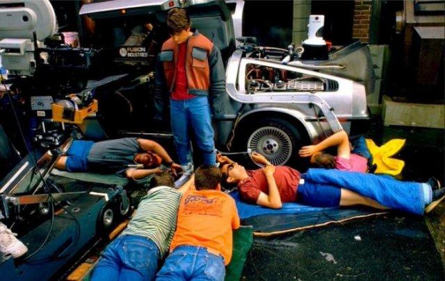 Съемка самозашнуровывающихся кроссовок, х/ф «Назад в будущее 2», 1989 год, США
