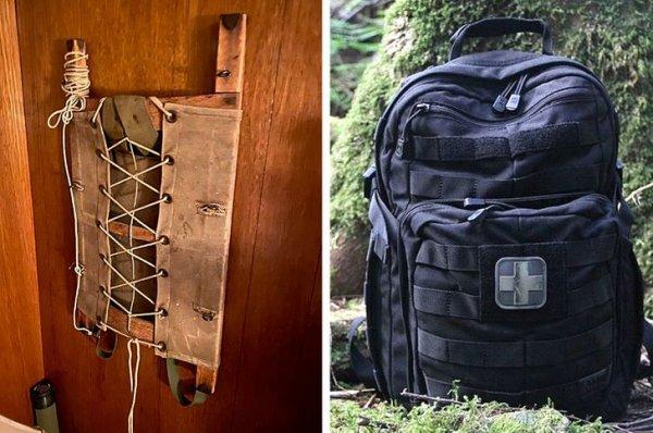 Рюкзак тогда и сейчас