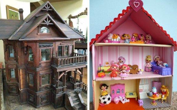 Кукольный домик в 1880 году и сейчас
