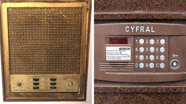 Два домофона — старый и новый