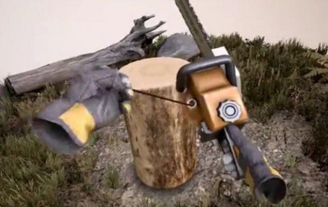 Фигурная резка по дереву в виртуальной реальности - смешной результат