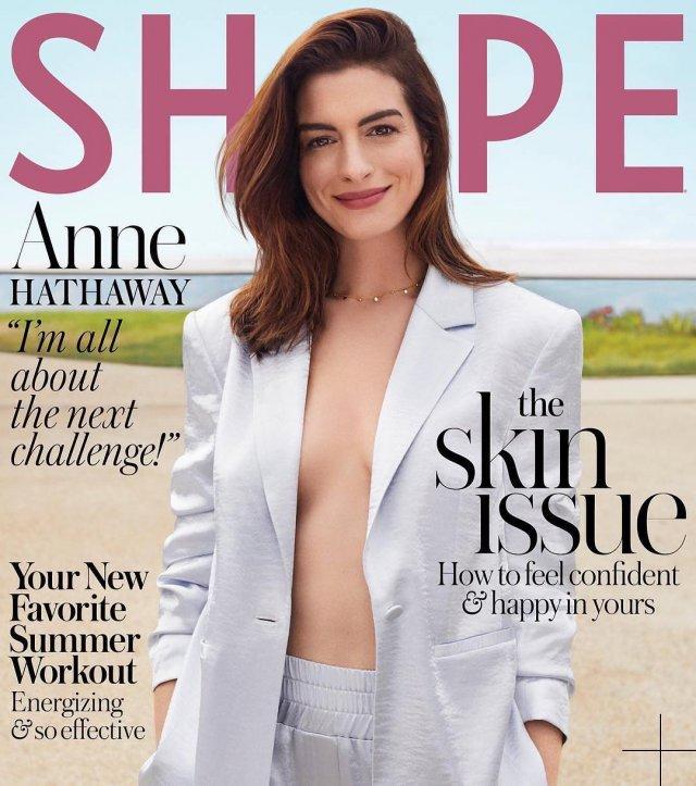 Энн Хэтэуэй на обложке журнала