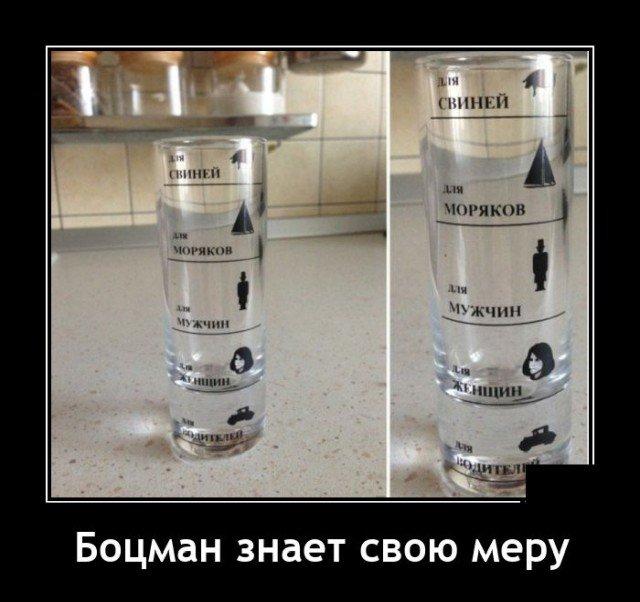 Демотиватор про меру в алкоголе