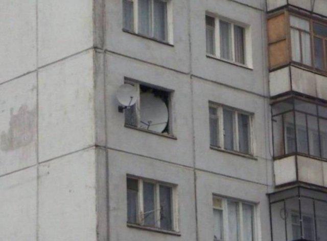 Спутниковая тарелка в квартире