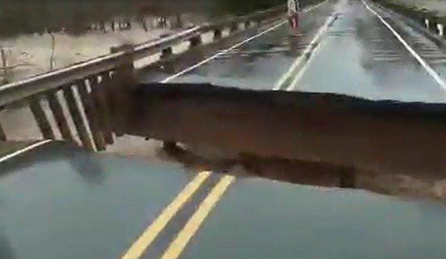 мост обвалился в северной каролине