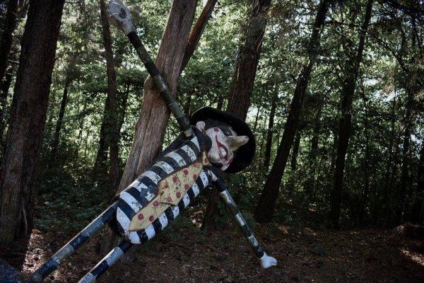 Встретили грабителя в лесу