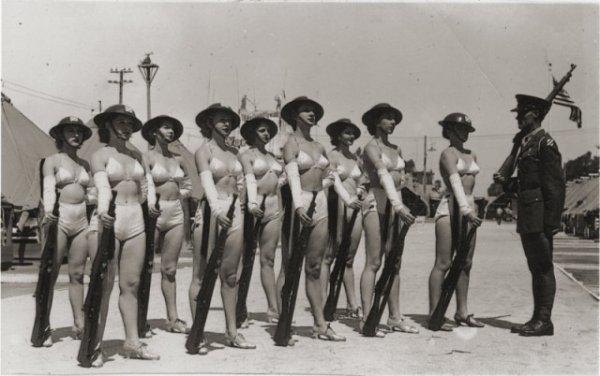 Женское подразделение 30-й пехотной дивизии армии США