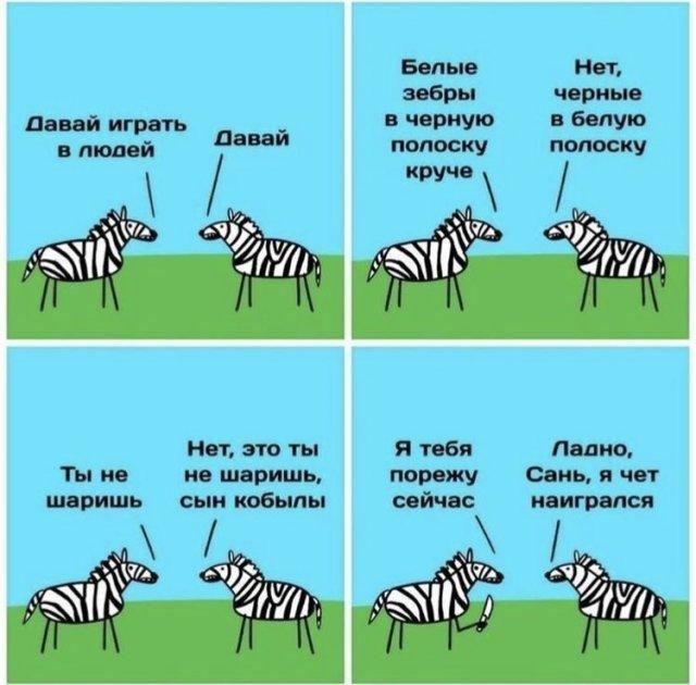 Шутка про зебру