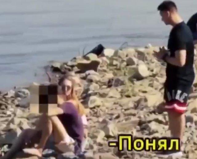Предложил парню прыгнуть воду за 500 рублей и увел его девушку с помощью денег