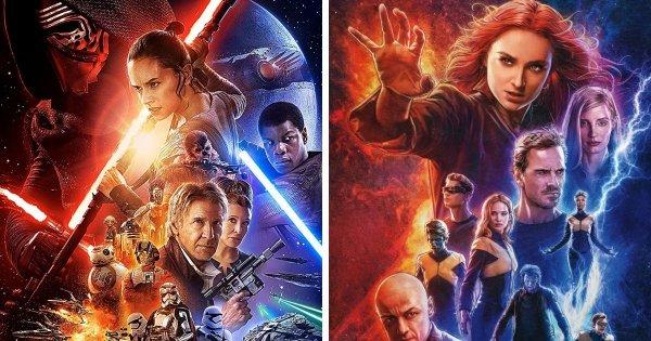 Звёздные войны: Пробуждение Силы (2015) и Люди Икс: Тёмный Феникс (2019)