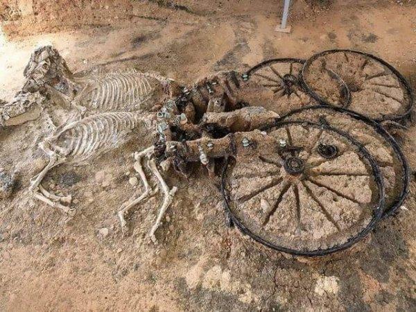 2000-летняя фракийская колесница