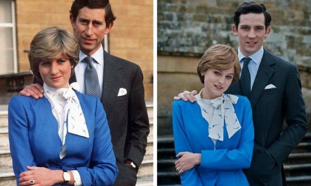 Принц Чарльз и Диана во время помолвки