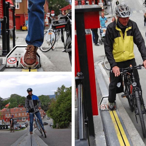 Эскалаторы для велосипедистов в Норвегии