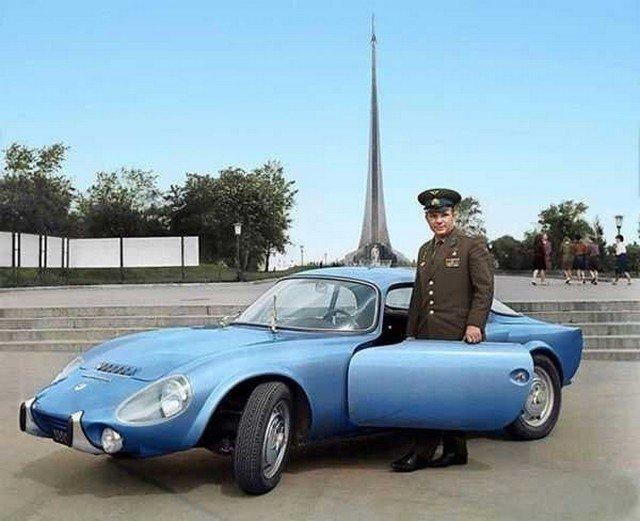 Юрий Гагарин и его Matra Bonnet Djet VS coupe, 1965 год