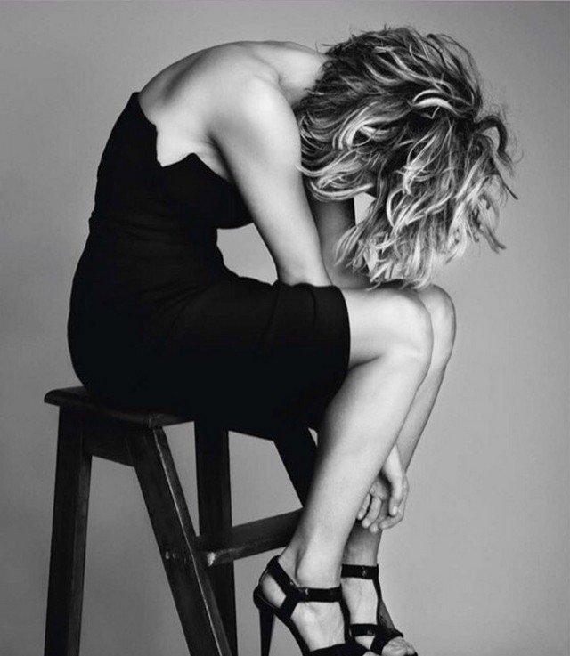 Мег Райан в черном платье