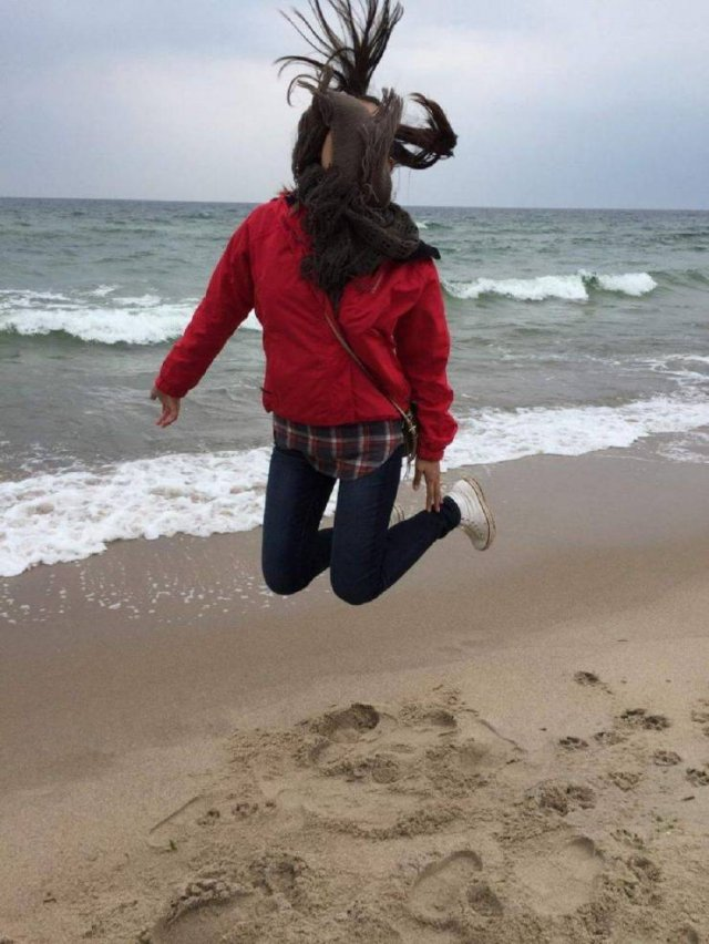 Фото в прыжке