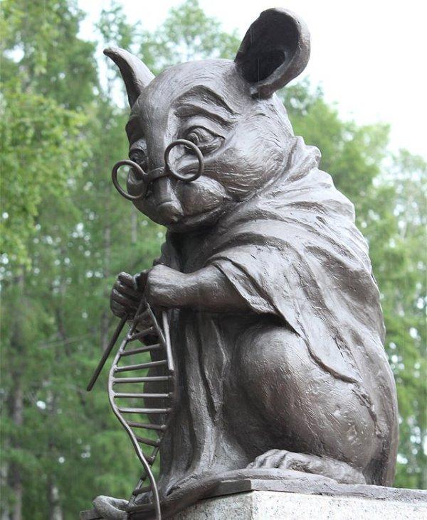 Памятник лабораторной мыши, Новосибирский академгородок