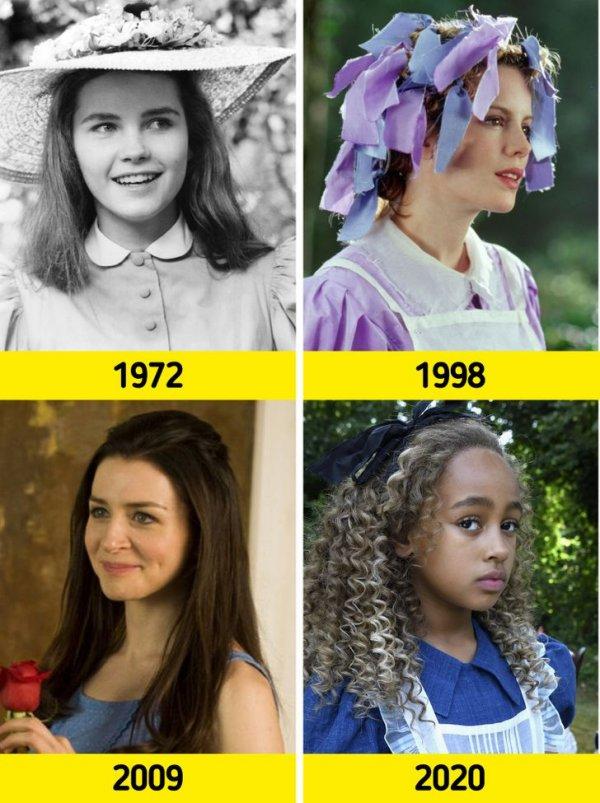 Алису Льюиса Кэрролла воплощали на экране как дети (Фиона Фуллертон в 1972 году и Кира Чанса в 2020-м)