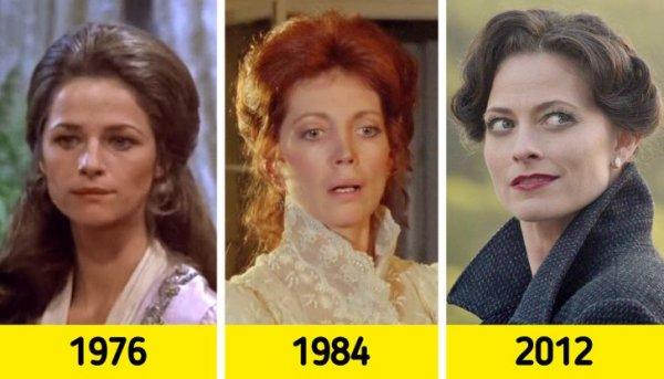 Возлюбленная Шерлока Холмса Ирэн Адлер:  Шарлотта Рэмплинг в 1976 году, Гэйл Ханника в 1984, в 2012-м - Лара Пулвер
