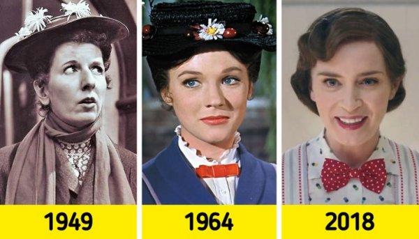 Мэри Поппинс: Мэри Уикс в 1949 году, Джули Эндрюс в 1964-м и Эмили Блант в 2018-м