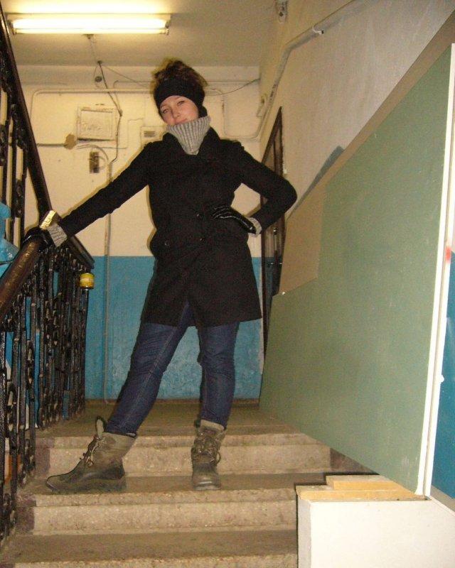Настя Ивлеева в зимней одежде