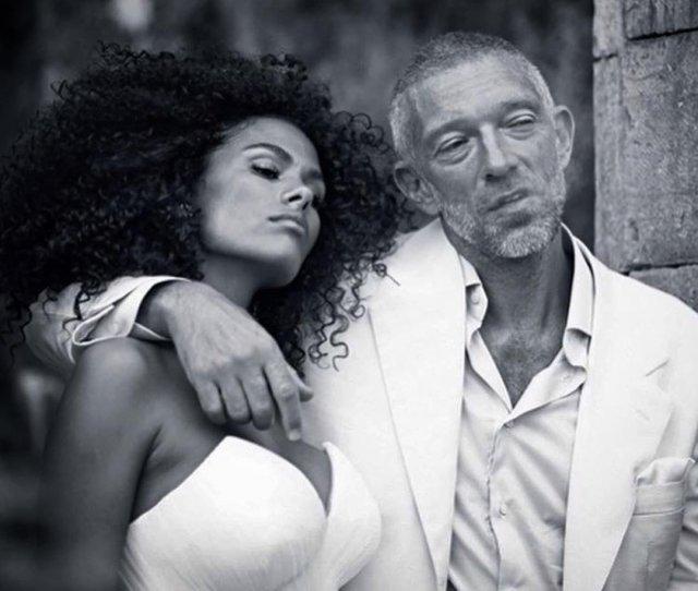 Венсан Кассель и Тина Кунаки на свадьбе