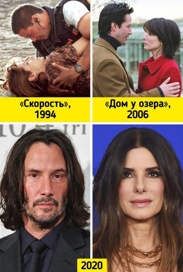 Киану Ривз и Сандра Буллок