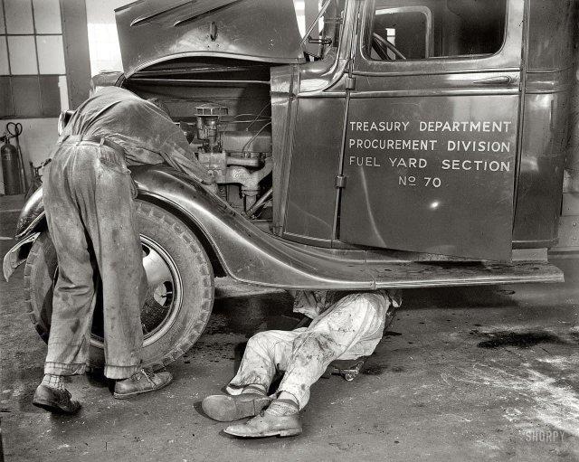 Ремонтная мастерская, Вашингтон, округ Колумбия, 1937 год.